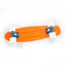 Mini Cruiser portocaliu-albastru-alb