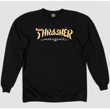 BLUZA THRASHER CALLIGRAPHY CREW ( material gros )