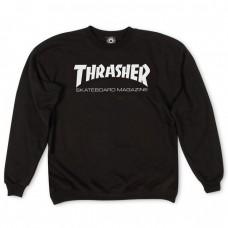 BLUZA THRASHER SKATE MAG CREWNECK BLACK ( Material gros )
