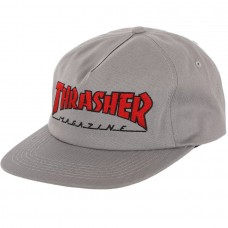 SAPCA THRASHER OUTLINED SNAPBACK CAP GREY/RED
