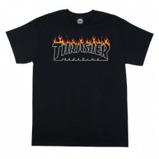 TRICOU THRASHER SCORCHED OUTLINE BLACK - EDITIE LIMITATA