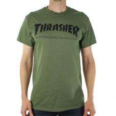 Tricou THRASHER Skate Mag Army Green