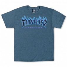 Tricou THRASHER FLAME LOGO Dark Heather