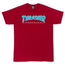 Tricou THRASHER SKATE MAG OUTLINE CARDINAL RED