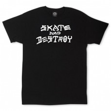 Tricou THRASHER Skate And Destroy Negru