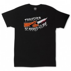 Tricou THRASHER SCARRED BLACK