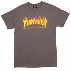 Tricou THRASHER Flame Logo Charcoal Grey