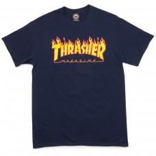 Tricou THRASHER FLAME LOGO Navy