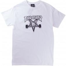 Tricou THRASHER SkateGoat Alb