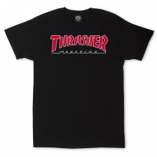 Tricou THRASHER OUTLINED SKATE MAG BLACK