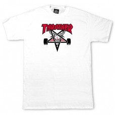 Tricou THRASHER TWO-TONE SKATE GOAT WHITE